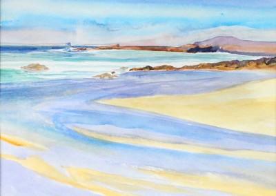 Harlyn Bay wet sands at low tide