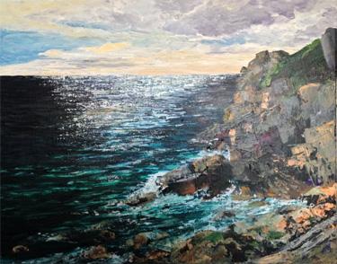 Lamorna Cove, Cornwall low light