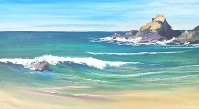 Trevone Bay Summers Day