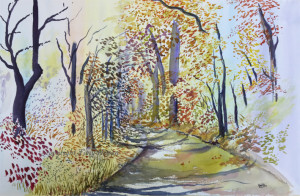 Autumn on the Trial watercolour