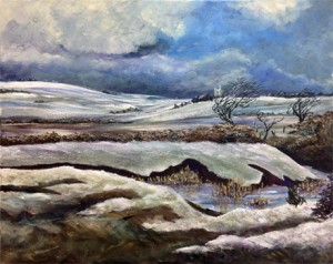 Snow Bodmin Moor Acrylic 2016 for LP