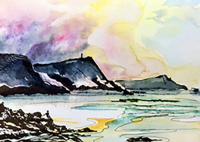Towards Stepper Point Cornish Coast