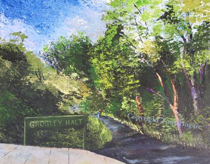 Grogley Halt old railway stop on Camel Trail, Wadebridge