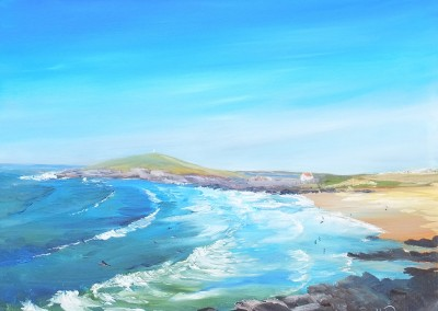 Fistral Bay from Pentire Head