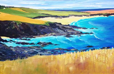 Looking down the Cornish North Coast above Trevone