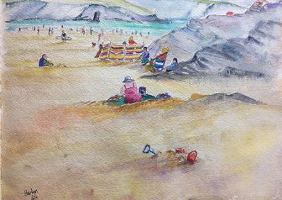 Summer on Harlyn Beach