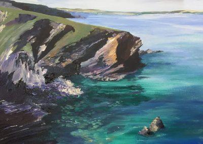 Cornish North coastal view